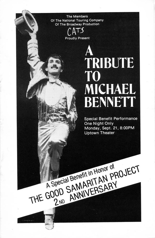 Promo image for our tribute to Broadway's Michael Bennett