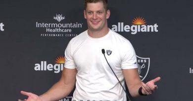 Las Vegas Raiders defensive end Carl Nassib (screen capture)